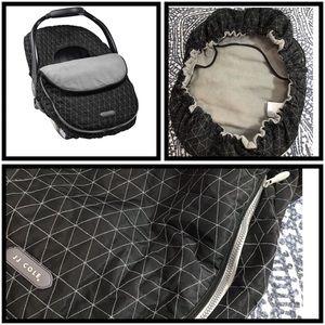 JJ Cole Accessories - JJ Cole | Car Seat Cover Black Tri-Stitch | OS